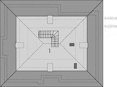 Projekt domu Flo II 112,34 m2 - koszt budowy 209 tys. zł - EXTRADOM Case, Floor Plans, Templates, Floor Plan Drawing, House Floor Plans