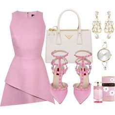 A fashion look from January 2015 featuring Valentino pumps, Prada tote bags and Alexis Bittar earrings. Browse and shop related looks.