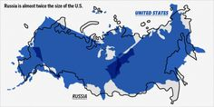 US fits inside Russia twice! Map Overlays Comparing Size - Business Insider