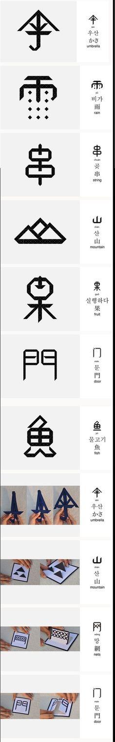 Chinese/Typo/Design Mandarin Chinese makes so much more sense now Typo Design, Design Typography, Word Design, Typography Logo, Icon Design, Branding Design, Graphic Design, Typographic Poster, Design Styles