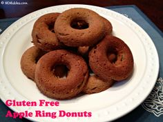 Apple Ring Donuts Gluten Free: I omitted the apple ring and added mini chocolate chips.