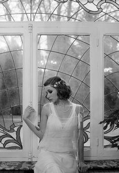 Robe de mariée années 20 vintage style wedding dress by Andralys