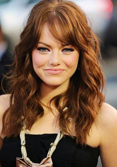 Emma Stone #hair #inspirationalbangs http://fuupon.com/