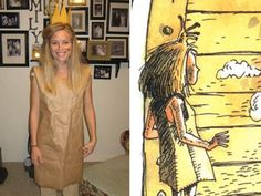 Paper Bag Princess Halloween costume. One of my favorite books as a kid, I actually want to do this costume!