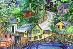 I discovered local BC/ Salt Spring Island artist Jill Louise Campbell's artwork when I lived in Vancouver 15 years ago, one day my future house will be filled with her beautiful watercolour paintings! Artist Gallery, Fine Art Gallery, Salt Spring Island Bc, Western Canada, Paintings I Love, Vancouver Island, Pacific Northwest, British Columbia, Painting Inspiration