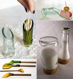 Inspiring craft and upcycling ideas with wine bottles #bottles #craft #ideas #inspiring #upcycling Alcohol Bottle Crafts, Glass Bottle Crafts, Alcohol Bottles, Bottle Art, Glass Bottles, Bottle Cutter, Recycled Wine Bottles, Bottle Lights, Upcycling Ideas