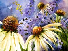 paintings of coneflower - Bing Images
