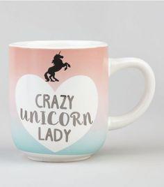White Crazy Unicorn Lady Mug | New Look