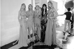 Doutzen Kroes, Anja Rubik, Lara Stone, Kendall Jenner et Karlie Kloss au défilé Atelier Versace automne-hiver 2015-2016