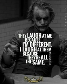 I want to be different.
