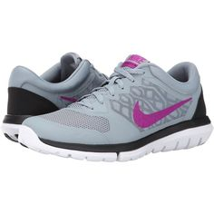 Nike Flex 2015 RUN Women's Running Shoes, Gray ($56) ❤ liked on Polyvore