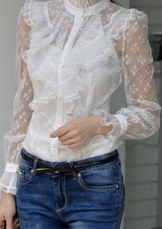 Lace Ruffle, Lace Dress, Dress Up, Ruffles, Casual Chic, Casual Wear, Casual Outfits, Outfit Trends, Mode Outfits
