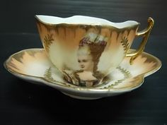 Carlsbad Austria Queen tea cup and King saucer