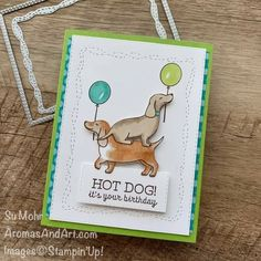 It's Your Birthday, Birthday Wishes, Birthday Cards, 3d Paper Flowers, Stampin Pretty, The Balloon, Hot Dogs, Balloons, Blog