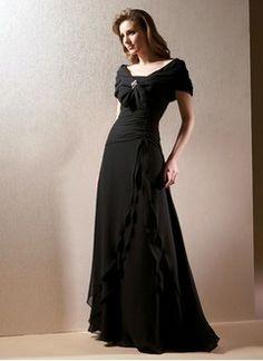 Sheath/Column Strapless Floor-Length Chiffon Charmeuse Mother of the Bride Dress…