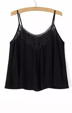 Lace Neck Tank Top – Trendy Road