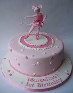 Angelina Ballerina- Lizzy says she needs an edible Angelina on top of her next cake. Angelina Ballerina, Ballerina Birthday Parties, 3rd Birthday Cakes, Ballerina Party, 4th Birthday, Ballet Cakes, Ballerina Cakes, Cupcake Cakes, Cupcakes