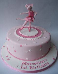 Little big company the blog ballerina baby shower for Angelina ballerina edible cake topper decoration sale