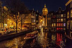 Riverboat at night | Amsterdam