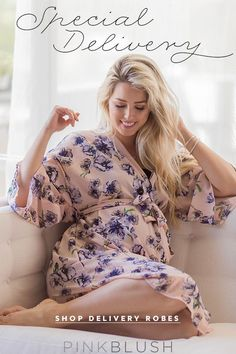 Cool, comfortable, and stylish robes for your trip to the hospital and nursing after birth!