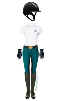 """Dark teal breeches say whaat??"" by dressagegirl217 ❤ liked on Polyvore featuring Prada, VERONA and Roeckl"