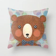 Mr. Bear Throw Pillow by Silva Ware by Walter Silva - $20.00