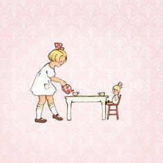 Children's Wall Art Print  Addie's Tea Party  от sarahjanestudios, $26.00