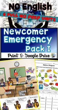 These ESL Beginner Activities and ESL Newcomer Worksheets will have your beginner level English Language Learner practicing English from Day 1.  Use the six units to teach beginner level English vocabulary.  #esl #esllessons #eslactivities #eslteachingideas Teaching English Grammar, English Language Learners, English Vocabulary, Esl Lessons, English Lessons, English Writing Exercises, Grammar Practice, Teacher Resources, Teaching Ideas