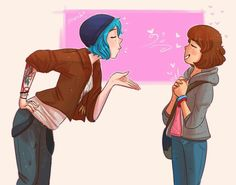 Life is Gay Life Is Strange Characters, Life Is Strange Fanart, Life Is Strange 3, Fictional Characters, Happy Facts, Dontnod Entertainment, Cry Now, Max And Chloe, Bizarre