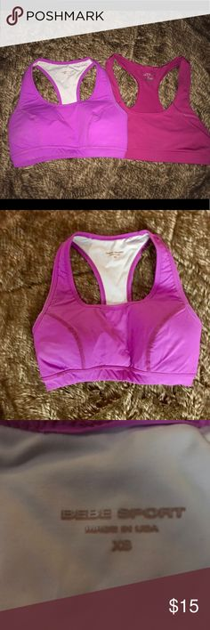 1340a4000d Bebe  BCG Sports Bra Bundle XS S 1 BCG Hot Pink Sports Bra Size Small   1  Bebe Sport Vivid Padded Sports Bra XS -very pretty fuchsia color.