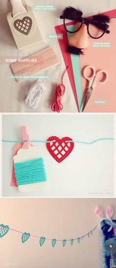Punch-Out Heart Garland   41 Heart-Shaped DIYs To Actually Get You Excited For Valentine'sDay