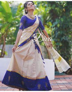 Half Saree Designs, Kurti Patterns, Saree Photoshoot, Lehenga, Sari, Engagement Ideas, Gowns, Indian, Bridal