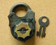 Charming Vintage German Padlock with Key by CuriosityShopper