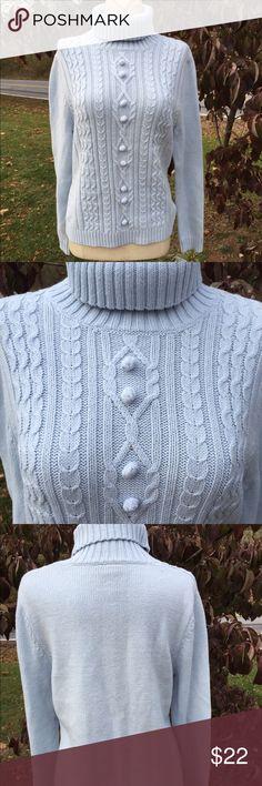 Rafaella Petites Multi Textured Sweater Size M New with tags. Size petite medium. Ice blue color Rafaella Sweaters Cowl & Turtlenecks