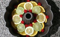 Freeze fruit into an ice ring for punch