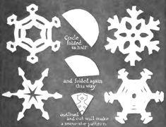 Snowflake Patterns To Cut Out | Snowflakes Crafts for Kids: Arts and Crafts Projects to Make Snow ...