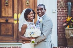 DC Real Wedding - Bergerons Flowers - Bergerons Event Florist Blog #PurpleFlowers #Bouquet #BrideAndGroom #DCwedding Photo Credit: JAR Media & Design