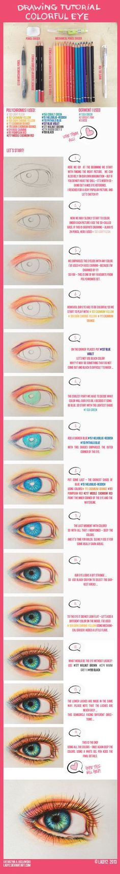And here it is! You asked me for a tutorial how to draw an eye using colored pencils. This time colorful I hope it will help you a little bit ... If you have any questions please write in the comme...