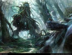 God of the forest by Hong Kuang | 2D | CGSociety