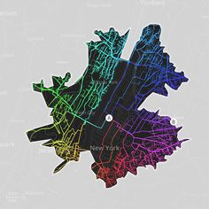 Manhattan's street network is characterized by bottlenecks connecting it to other boroughs. Brooklyn Bridge, Battery Tunnel, Queensborough Bridge and other connecting paths create a very interesting Street DNA pattern. It is far from optimum but imposed to the natural landscape of the area.
