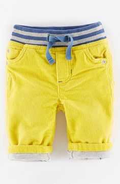 Mini Boden Mini Boden 'Cosy' Lined Jeans (Baby Boys) available at #Nordstrom
