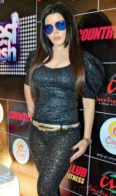 Rakhi Sawant at press conference of Country Club New Year Bash 2014 # ...
