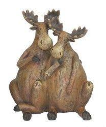 Moose Couple figurine