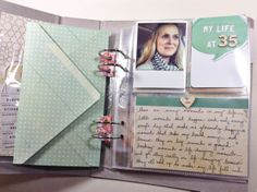 A video tutorial on adding handmade envelopes to #scrapbooking albums - perfect for holding memorabilia
