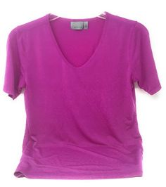 Athleta Shirt Short Sleeve V-Neck Purple Stretchy Top Women's Size XS #Athleta #ShirtsTops