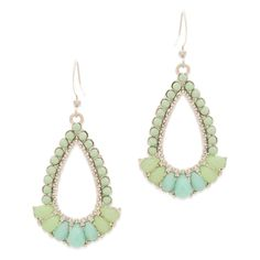 If your favorite color palette contains shades of blue and green, you will adore these Elin earrings.   Find it on Splendor Designs