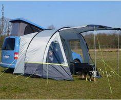 Tenda auto furgone Minivan Tour Compact per VW Caddy Small Camper Vans, Small Campers, Mini Camper, Equipement Camping Car, Peugeot, Accessoires Camping Car, Van Tent, Tour Bus, Campervan Awnings