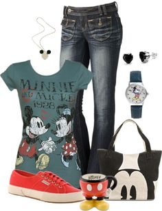 """Never Too Old - Mickey & Minnie"" by ailunsford ❤ liked on Polyvore"