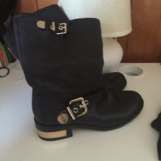 Black Vince Camuto boots Black Vince Camuto boots worn before size 7 1/2 Vince Camuto Shoes Heeled Boots