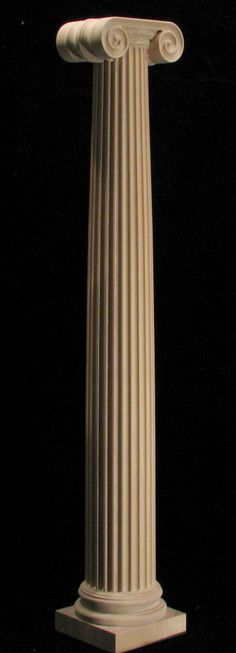 Wood carved ionic column